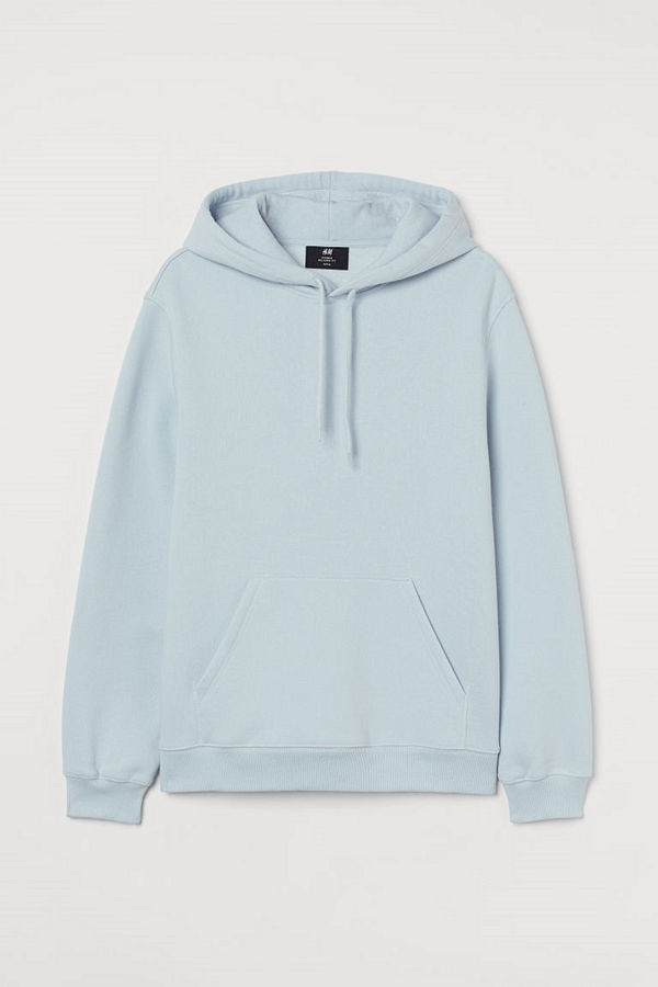 H&M Huvtröja Relaxed Fit turkos