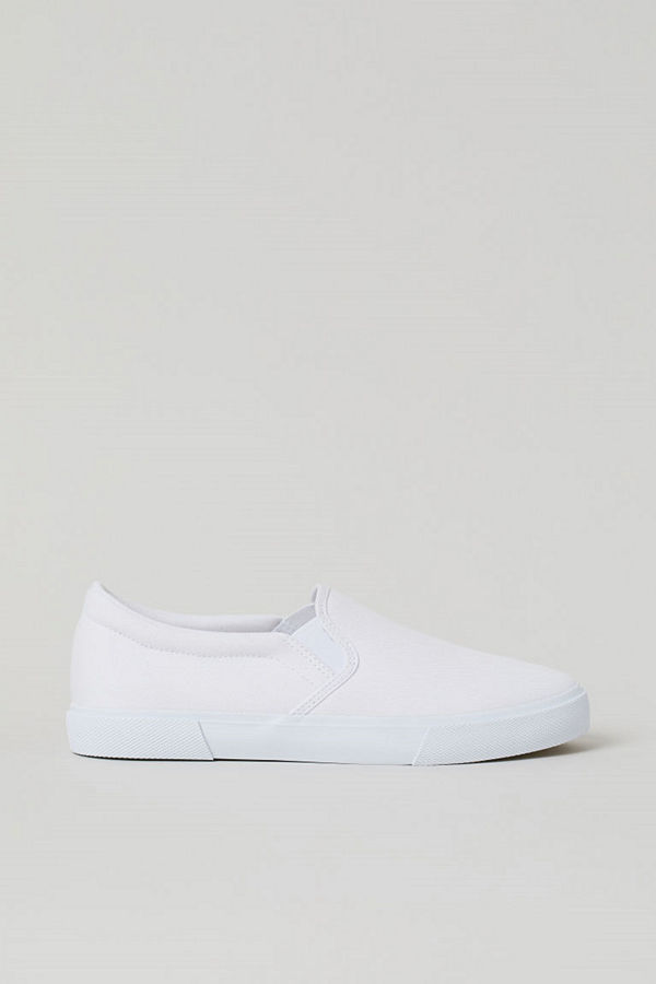 H&M Slip on-sneakers vit