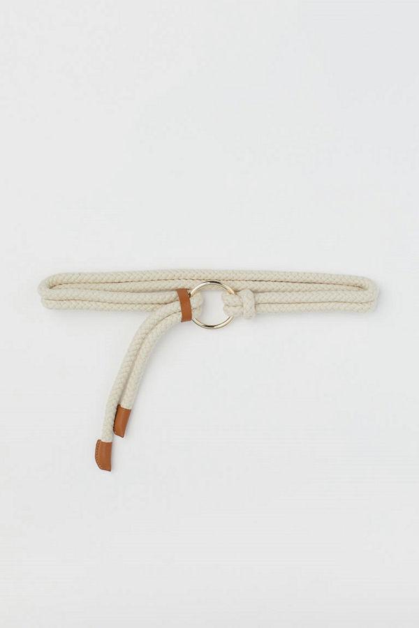 H&M Midjeskärp av rep beige