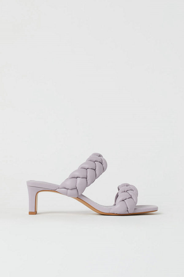 H&M Flätade sandaletter lila