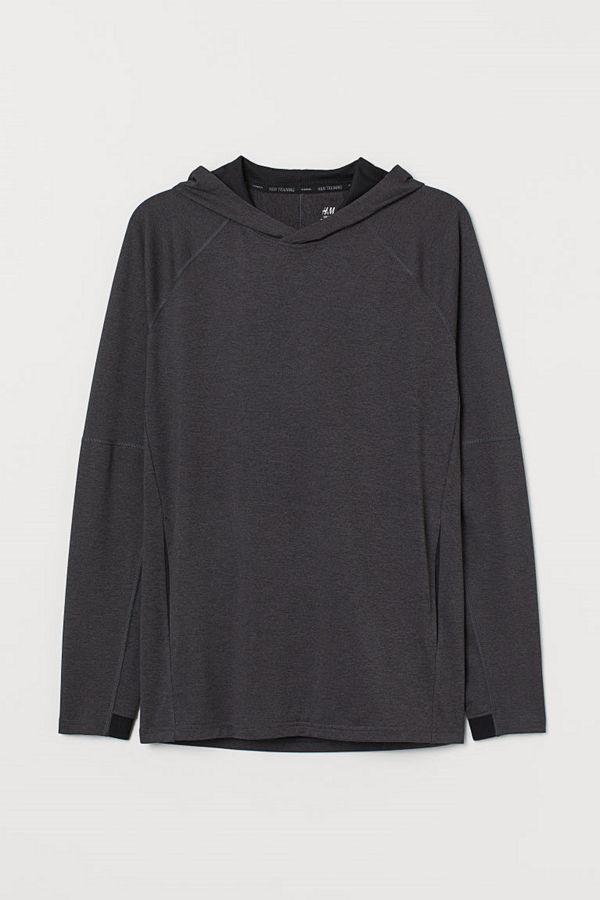 H&M Yogahuvtröja Regular Fit grå
