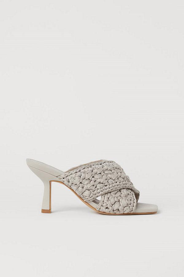 H&M Slip in-sandaletter brun