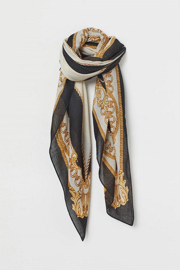 H&M Mönstrad scarf svart