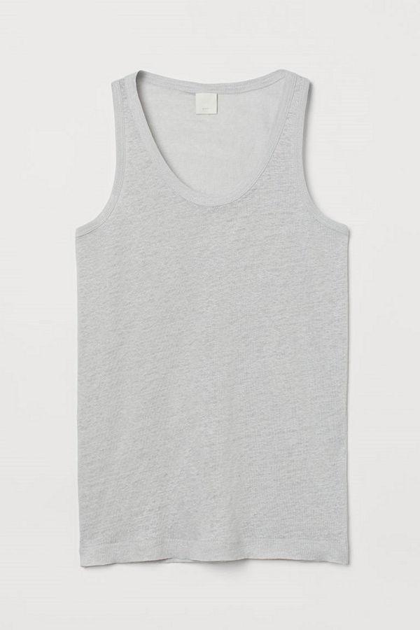 H&M Tanktop i lintrikå grå