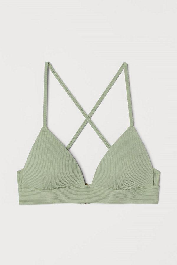 H&M Push up bikini-bh grön