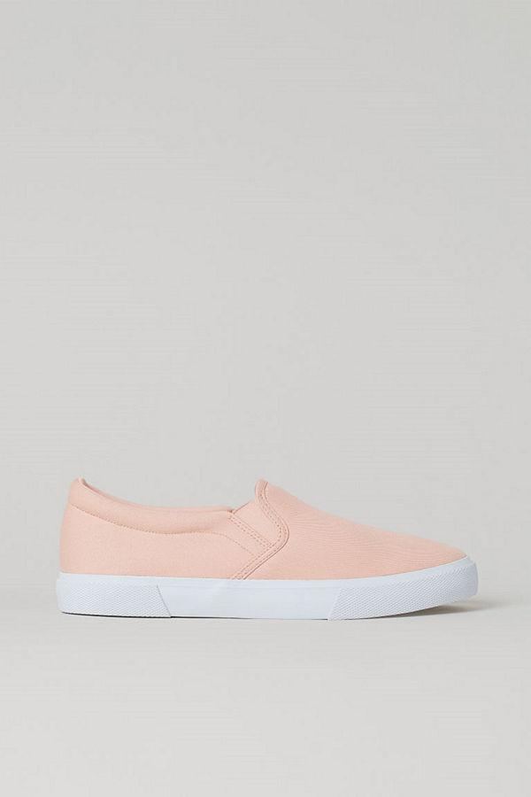 H&M Slip on-sneakers rosa