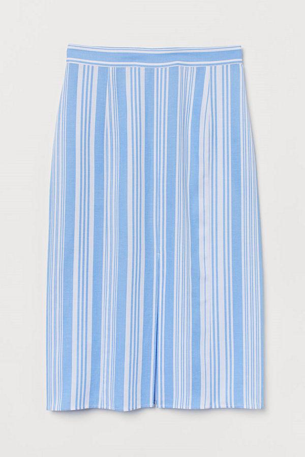 H&M Kjol i lyocellmix blå