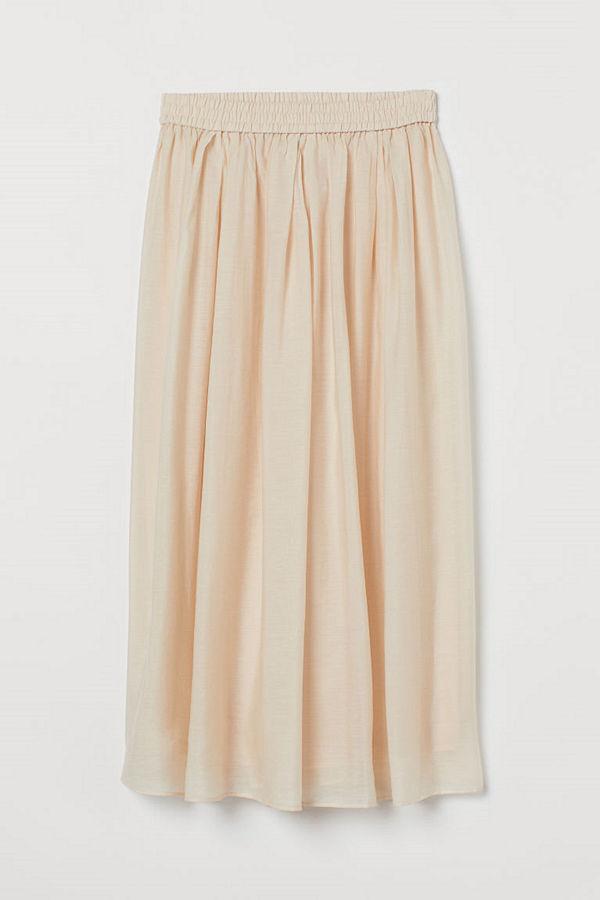 H&M Cirkelskuren kjol beige