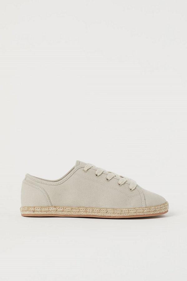 H&M Sneakers i twill beige
