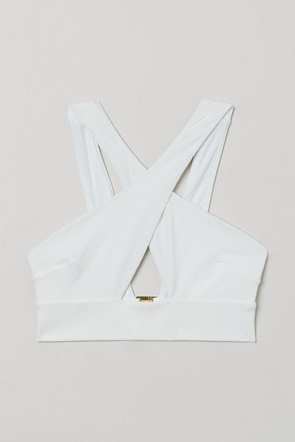 H&M Bikinitopp vit