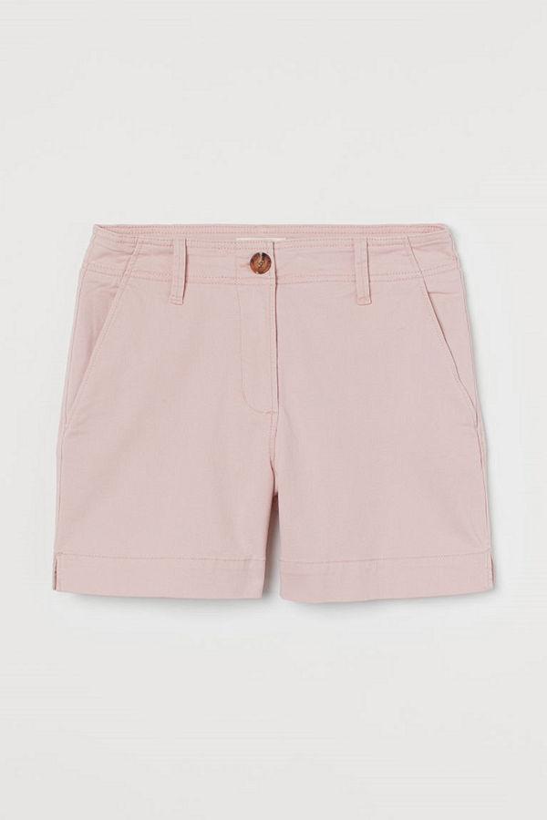 H&M Shorts i bomullstwill orange