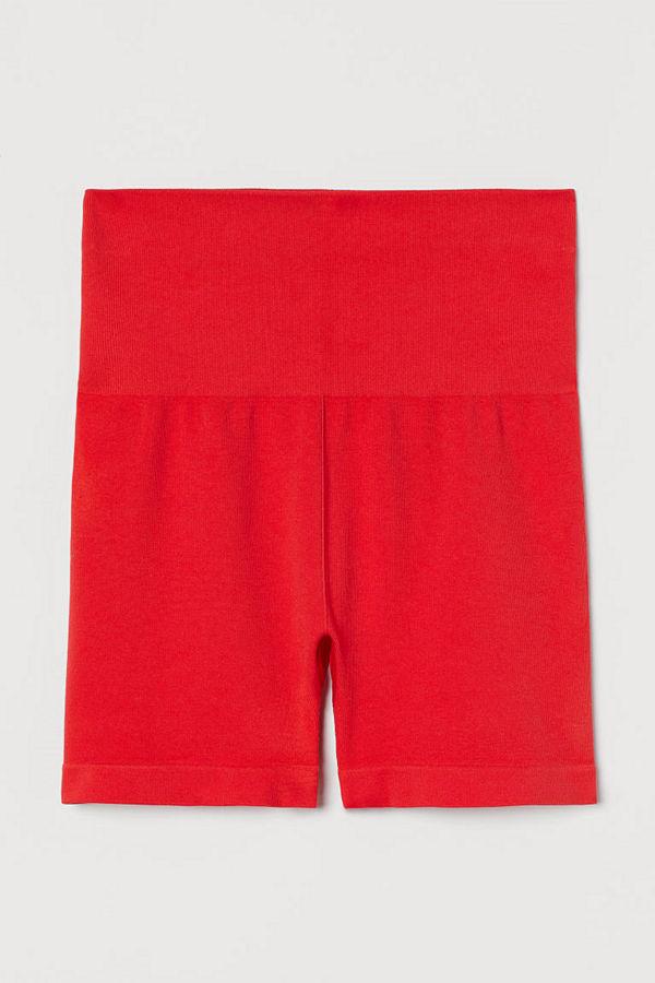 H&M Seamless hotpants röd