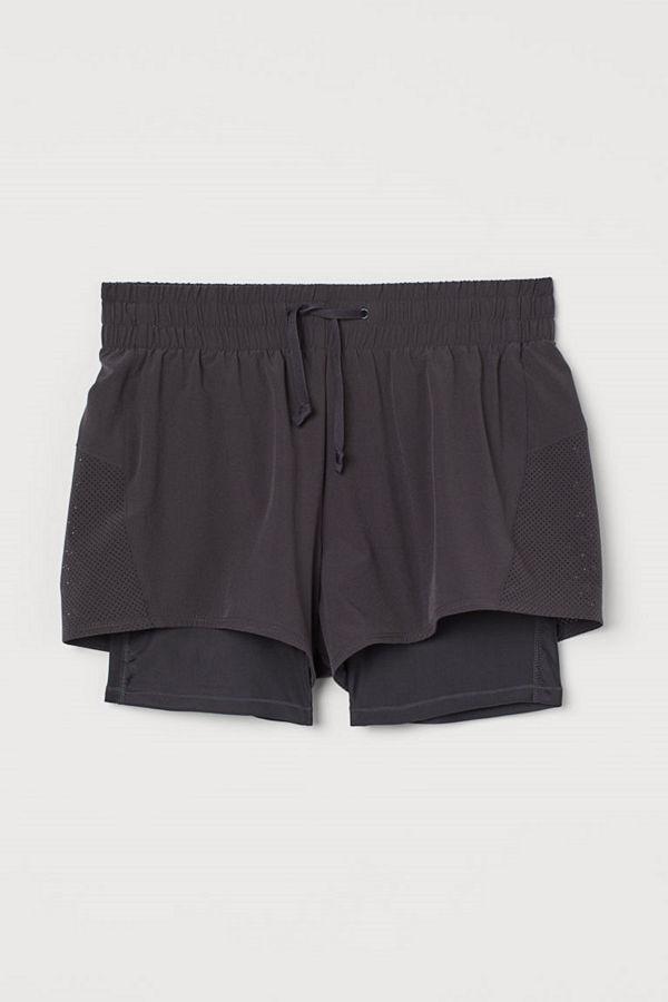 H&M Dubblerade träningsshorts grå