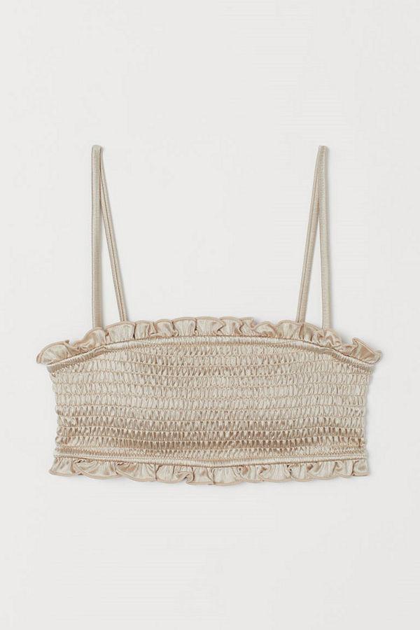 H&M Vadderad bikinitopp beige