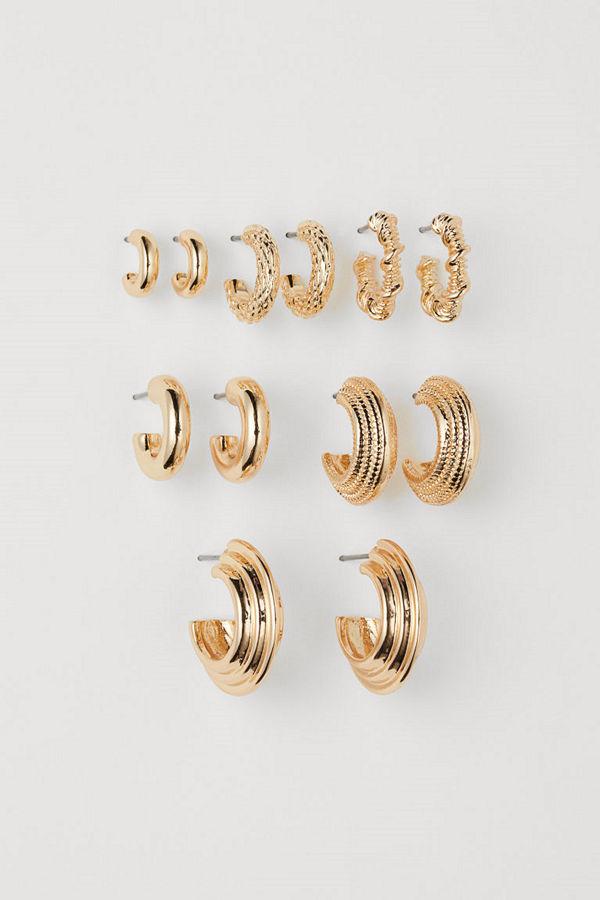 H&M 6-pack örhängen guld