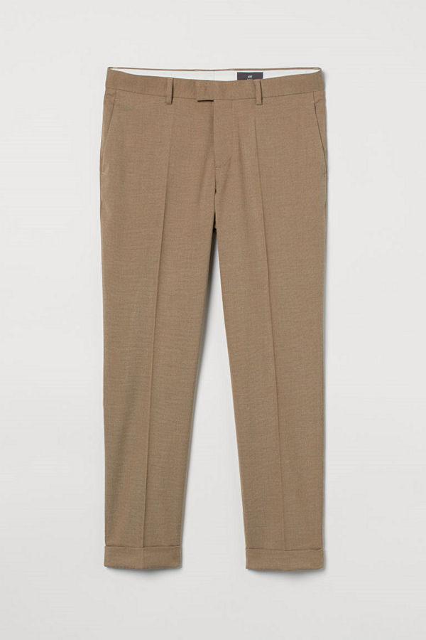 H&M Kostymbyxa Slim Fit beige