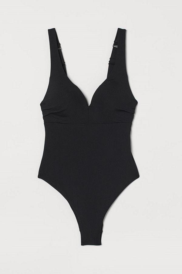 H&M Push up-baddräkt High leg svart