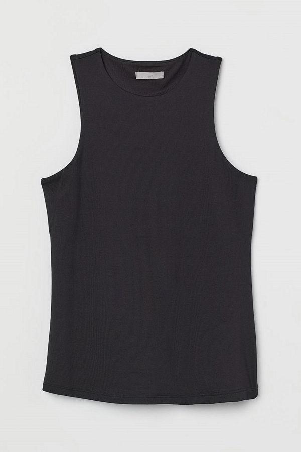 H&M Linne i trikå svart