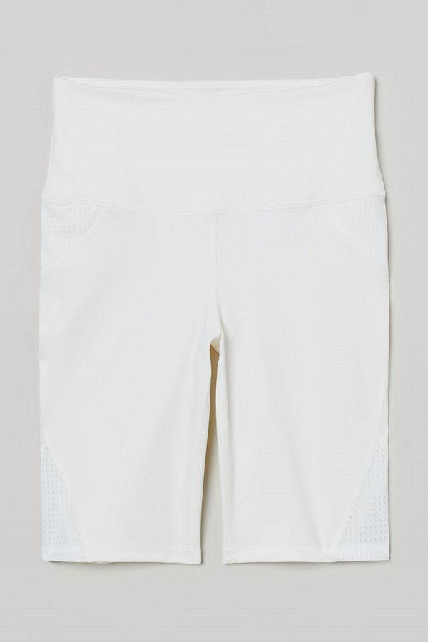 H&M Träningscykelbyxa med mesh vit