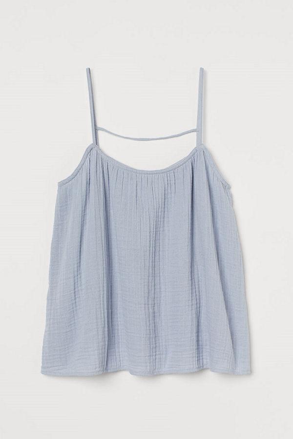H&M Linne i bomull blå