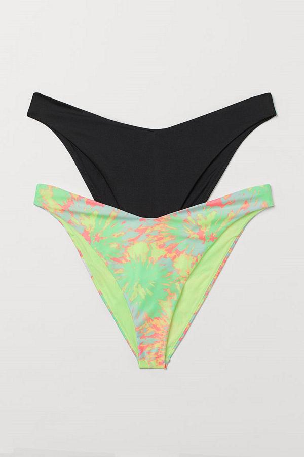 H&M H & M+ 2-pack bikinitrosa gul
