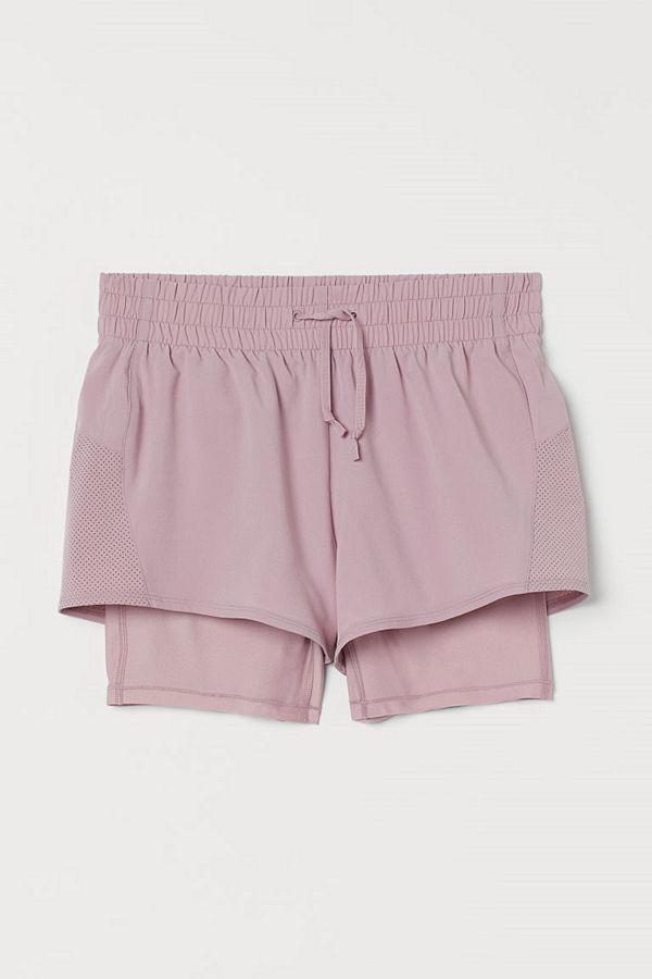H&M Dubblerade träningsshorts rosa