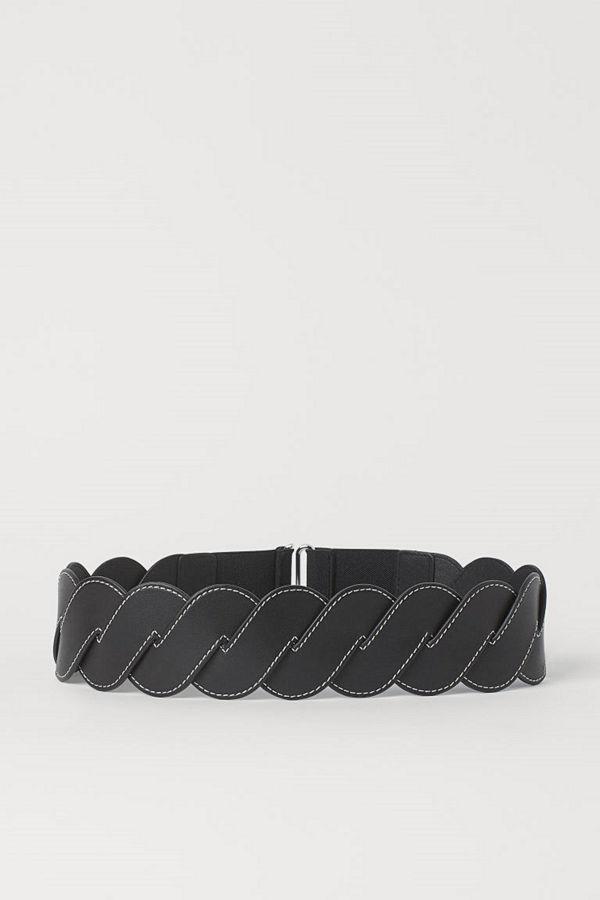 H&M Flätat midjeskärp svart