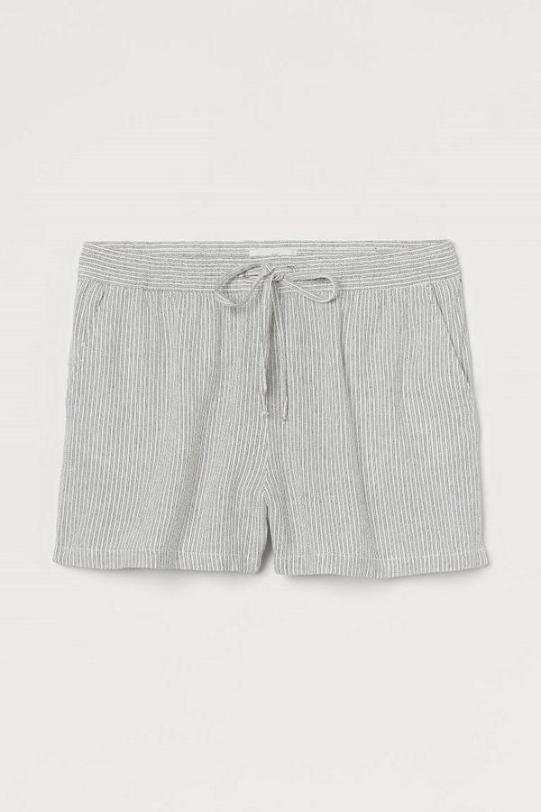 H&M Shorts i linmix vit