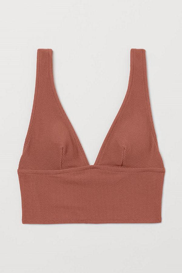 H&M Vadderad bikinitopp orange