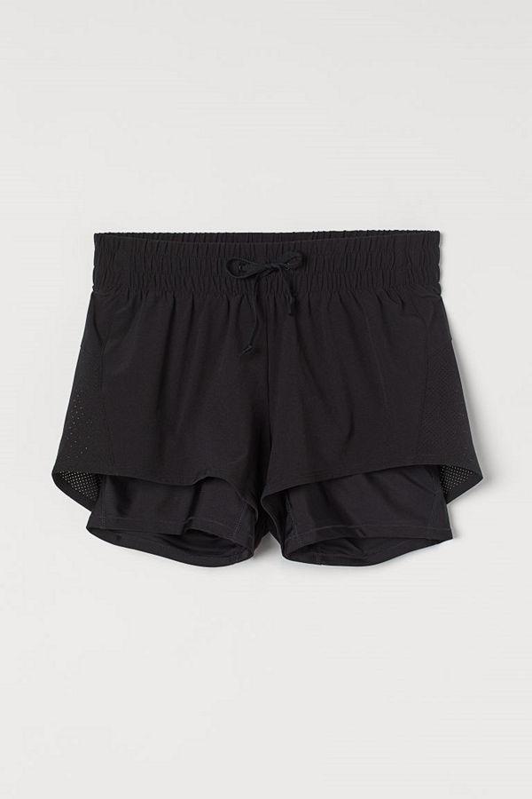 H&M MAMA Dubblerade löparshorts svart