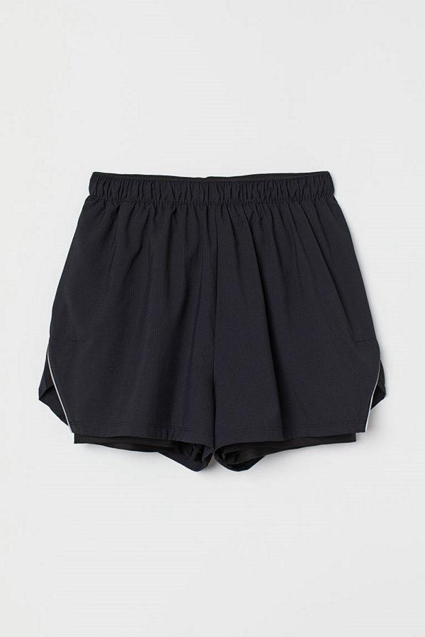 H&M Dubblerade löparshorts svart