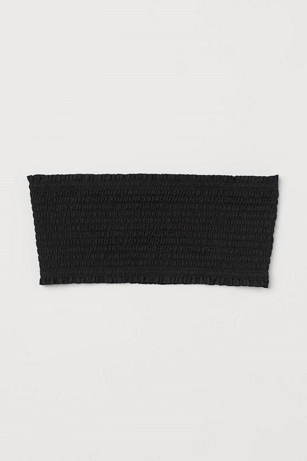 H&M Smockad bandeaubikini-bh svart