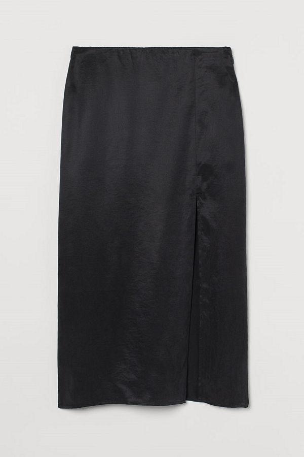 H&M Kjol i lyocell svart