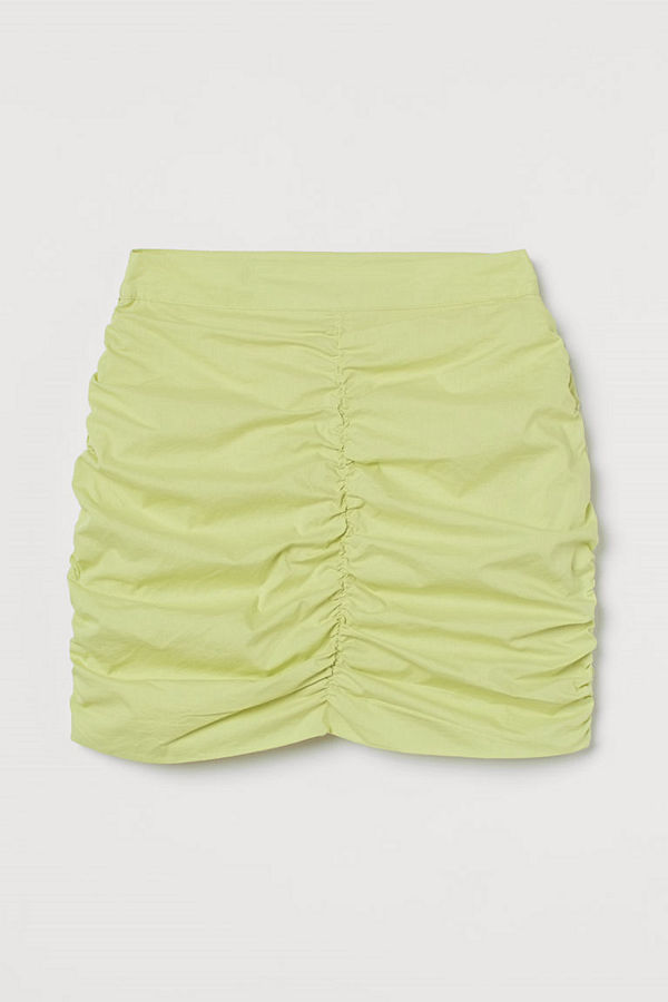 H&M Draperad kjol gul