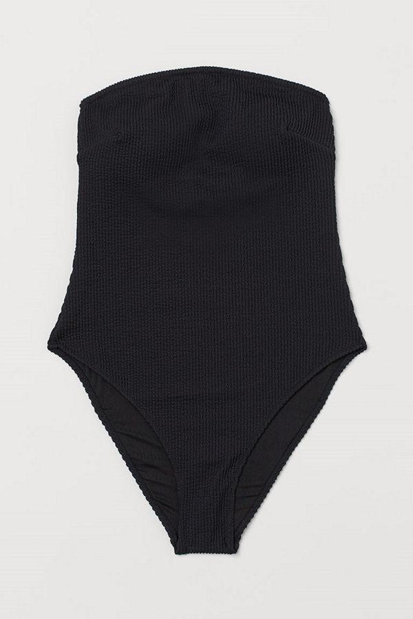 H&M Bandeau-baddräkt svart