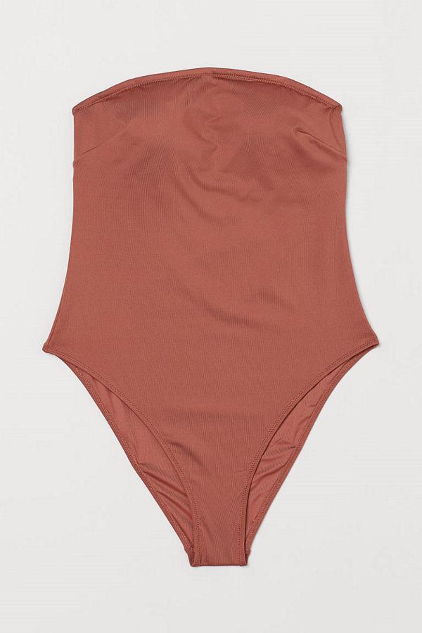 H&M Bandeau-baddräkt orange