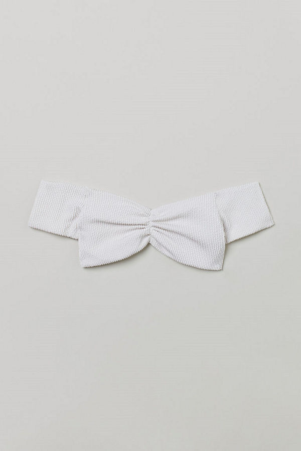 H&M Off shoulder-bikinitopp vit