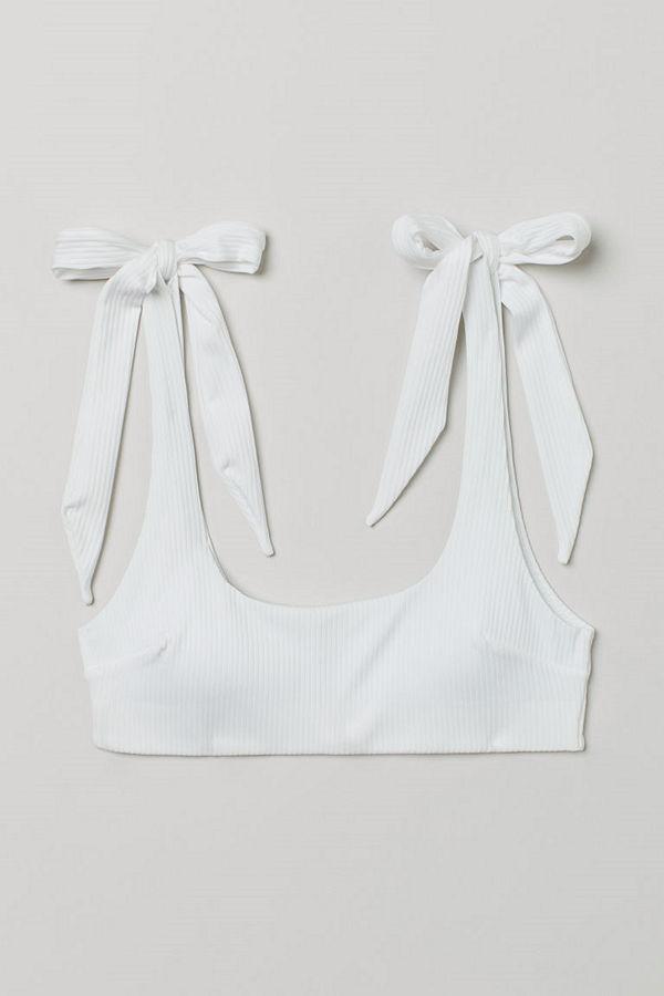 H&M Vadderad bikinitopp vit