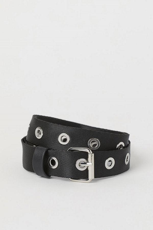 H&M Skärp med öljetter svart