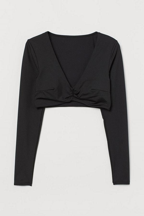 H&M Badtopp med vadderade kupor svart