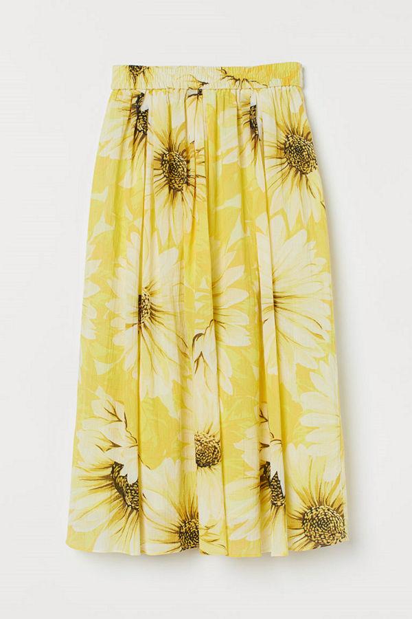 H&M Cirkelskuren kjol gul