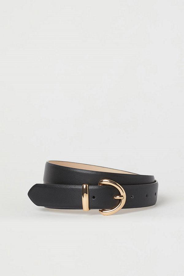 H&M Skärp i läderimitation svart