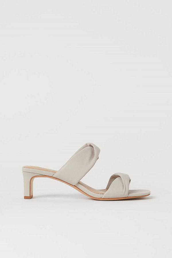 H&M Sandaletter med blockklack brun
