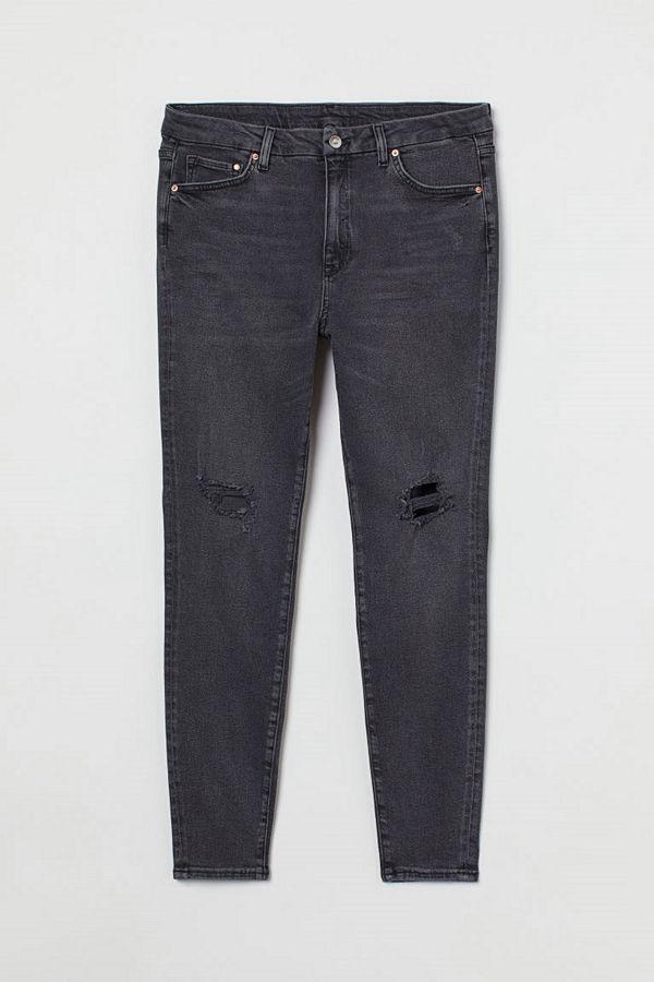 H&M H & M+ Embrace Shape Ankle Jeans svart