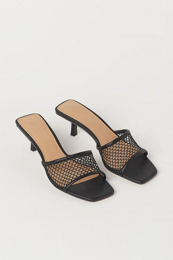 H&M Sandaletter i mesh svart