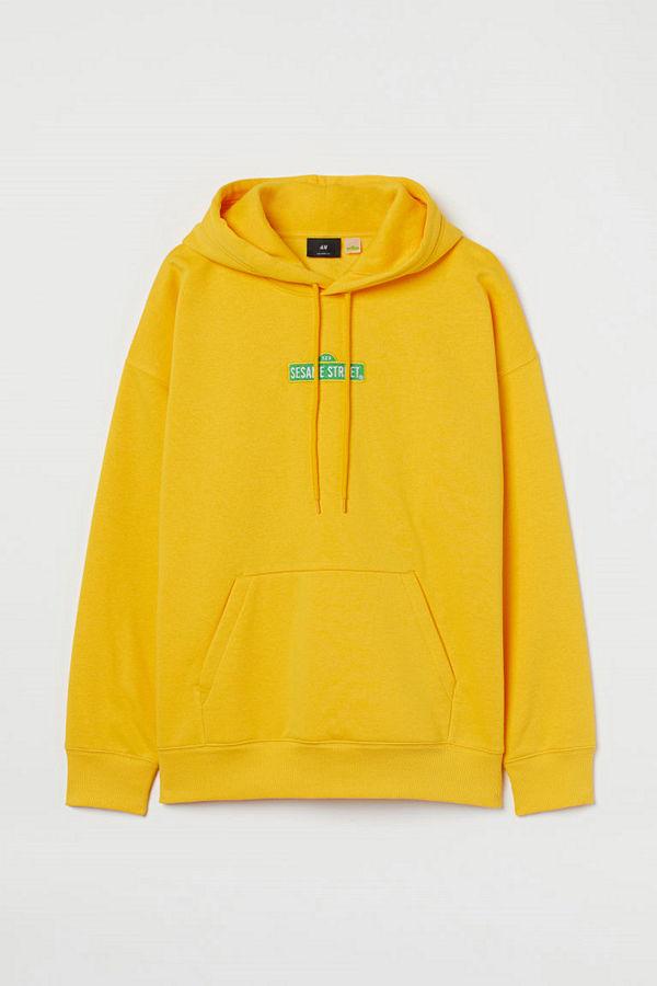 H&M Huvtröja gul