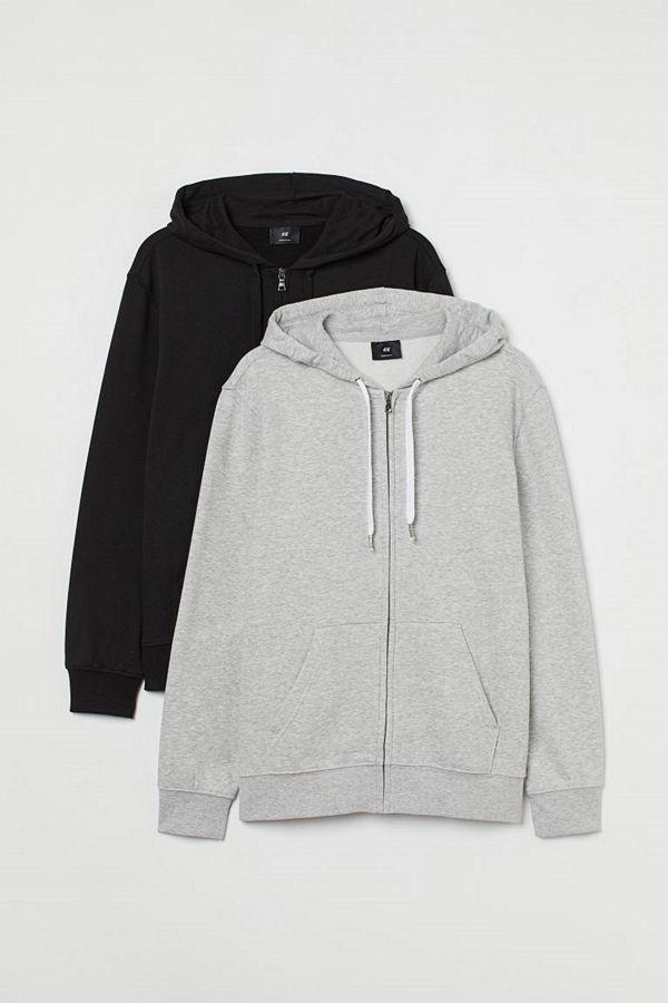 H&M 2-pack munkjacka Regular Fit grå