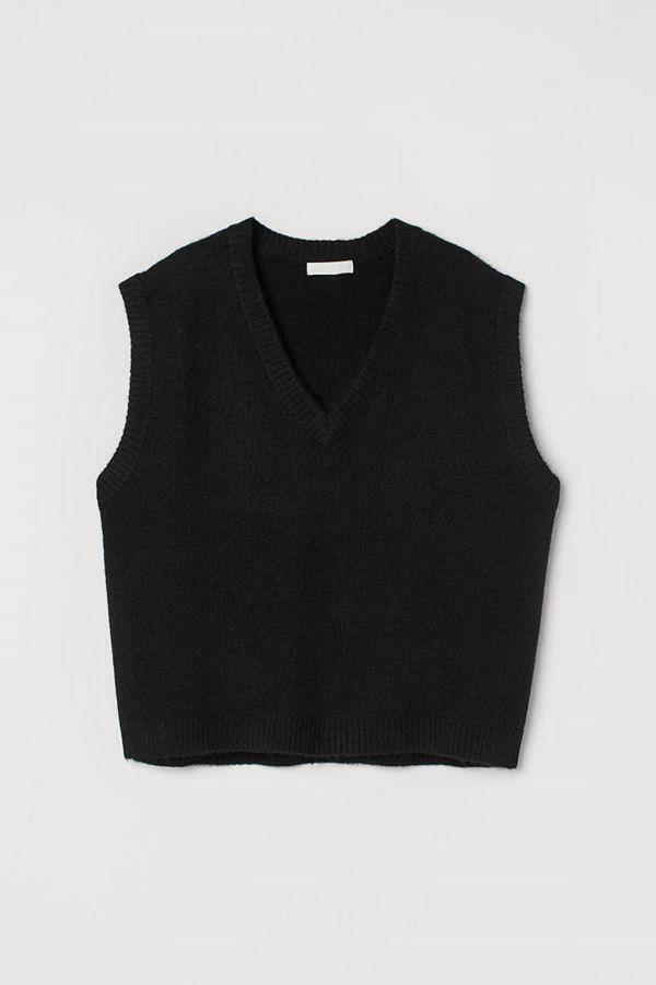 H&M V-ringad slipover svart