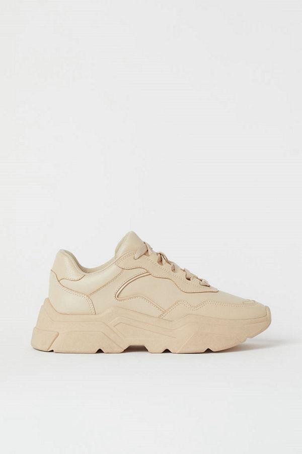 H&M Chunky sneakers beige
