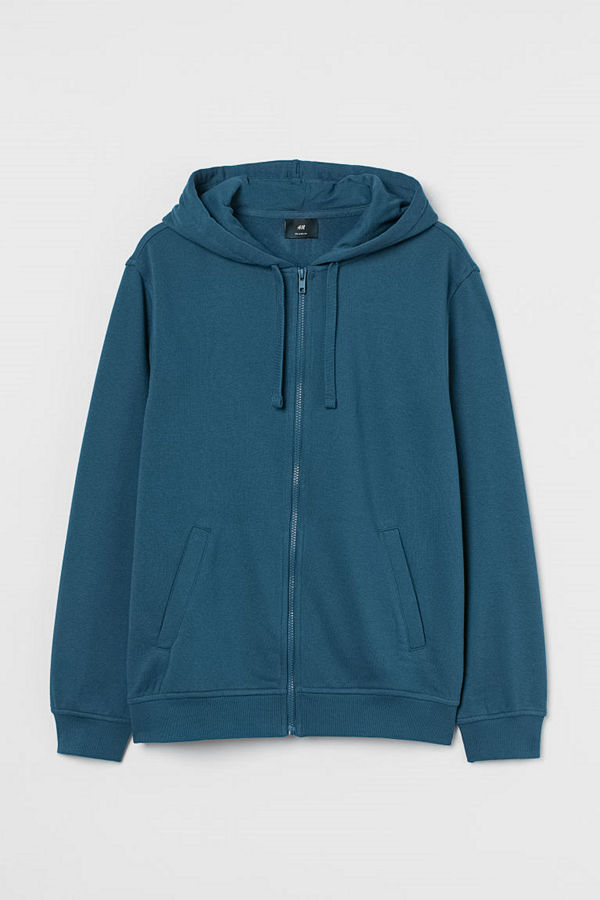 H&M Munkjacka Relaxed Fit blå